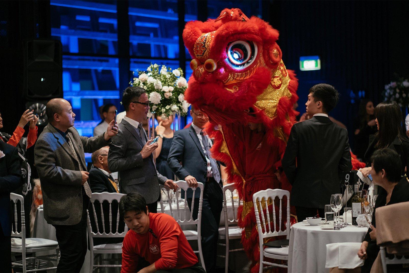 Traditional Lion Dance Wedding