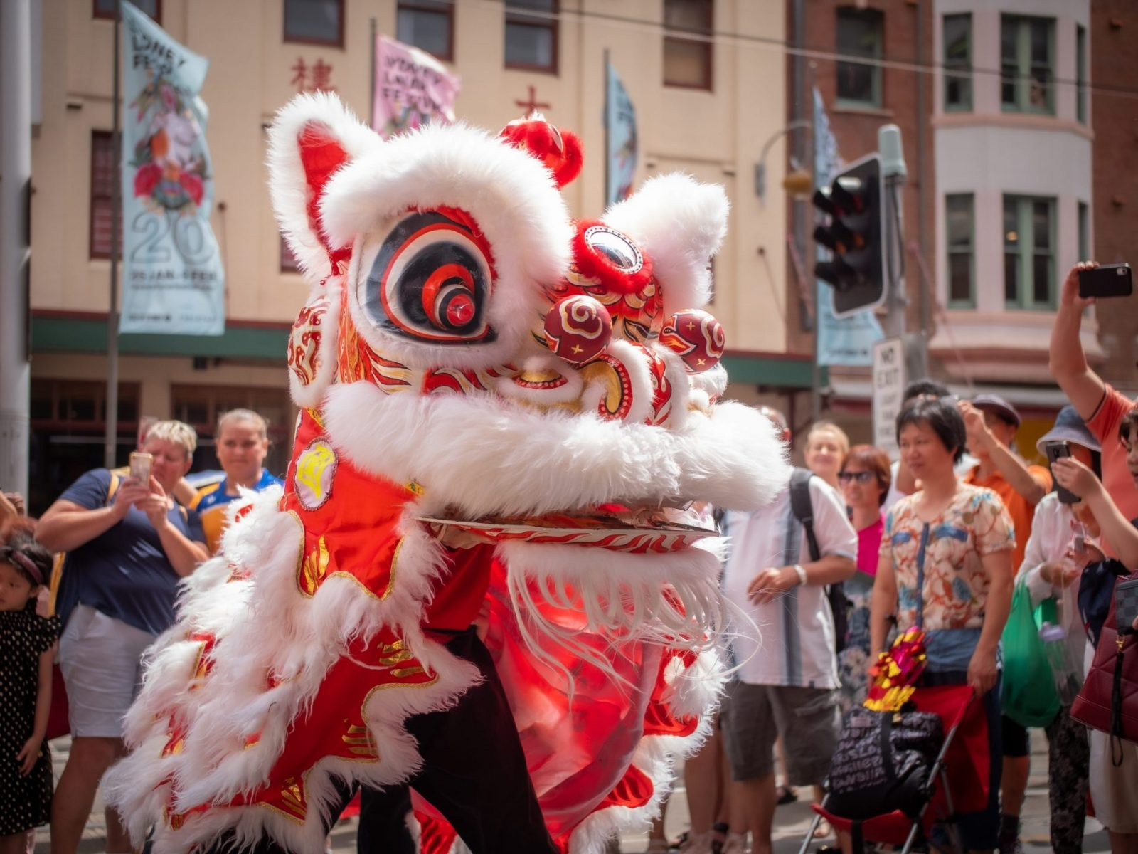 market city lion dance chinese new year